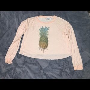 Pink Pineapple wildfox long sleeve
